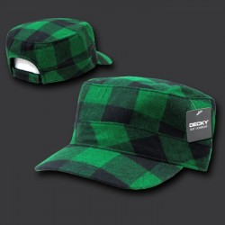 905-Flannel Flat Top Caps