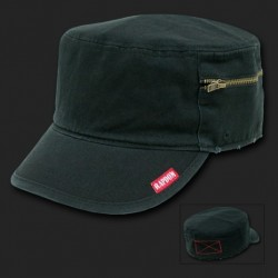 35B- Military Fatique Cap with Zipper