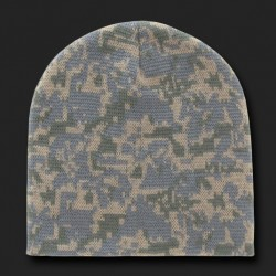 R602- Woodland Camo Beanies, Watch Caps