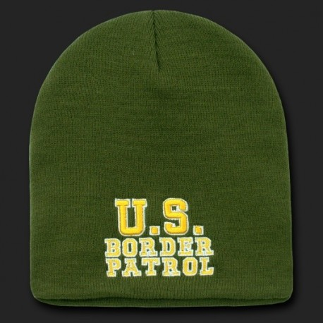 R90- Embroidered Military, Law, Knit Cap