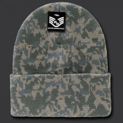 R607- Camo, ACU Cuff Beanies, Watch Caps