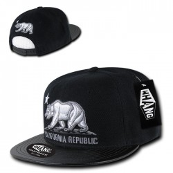 W77 - Vinyl Bill Cali Rep Snapbacks