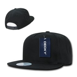 1064 - FLAT Bill 5 Panel Cotton Snapback