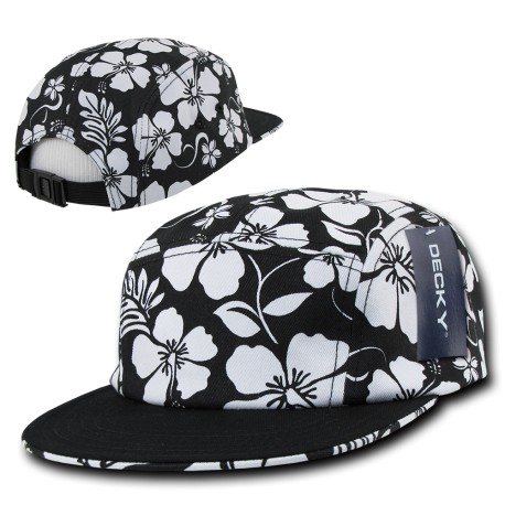 1070 - Solid Bill Floral Racer Caps