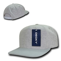 1132 - 5 Panel Heather Jersey Knit Caps