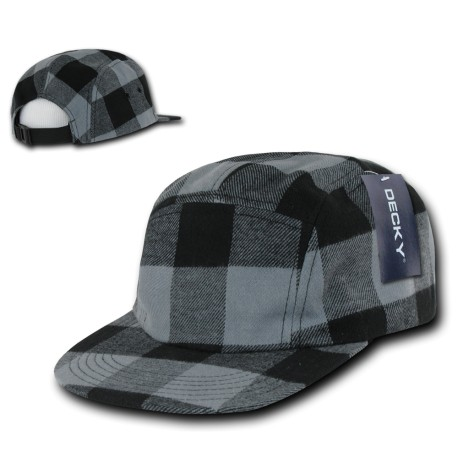 984 - 5 Panel Plaid Racer Caps