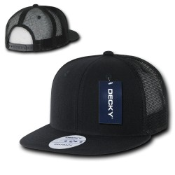 1052 - 6 Panel FLAT Bill Trucker Caps