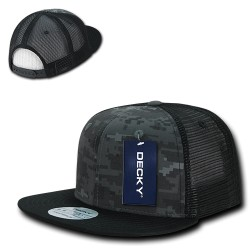 1055 - Camo FLAT Bill Trucker Caps