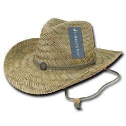 528 - Mat Straw Lifeguard Hat