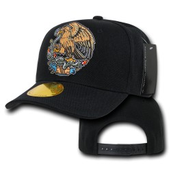Curve Bill Eagle Caps, Mexico, Black