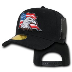 Curve Bill Eagle Caps, USA, Black
