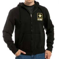 S48 - Full Zip Printed Fleece Hoodies