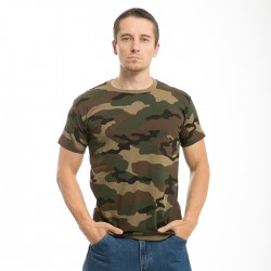 R38 - Woodland Camo Cotton T-shirt