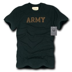 R57- Felt Applique Military, Law T-Shirt