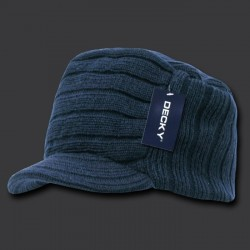 615 - Knitted Flat Top Cap