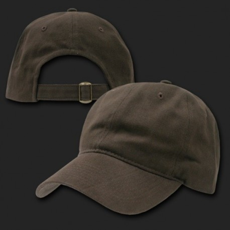 307 - Low Crown Brushed Cotton Caps