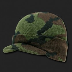R604- Camouflage Jeep Caps/Visor Beanies