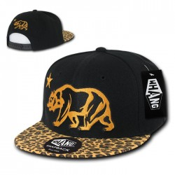 W25 - Cali Bear Animal Pattern Snapback