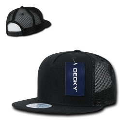 1063 - 5 Panel Flat Bill Trucker Hats