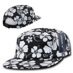 1069 - 5 Panel Floral Racer Caps