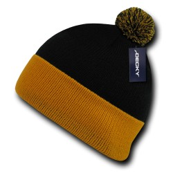 687 - Athletic Pom Pom Beanies
