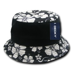 457 - Floral Brim Polo Bucket Hat