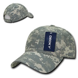 217 - Structured Camo Baseball Caps