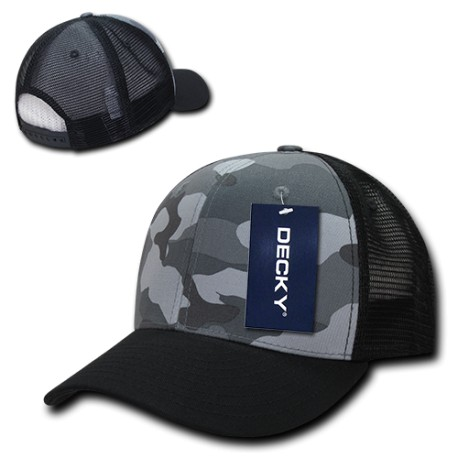 1054 - Camo CURVE Bill Trucker Caps