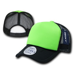 220 - Two Tone Neon Foam Trucker Caps