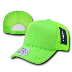 221 - Solid Color Neon Foam Trucker Caps
