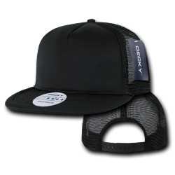 223 - Solid Color Flat Bill Foam Trucker