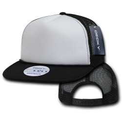 224 - Two Tone Flat Bill Foam Trucker