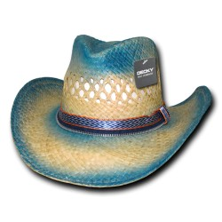 522 - Sea Breeze, Raffia Straw CowboyHat