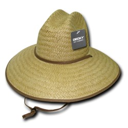 529 - Paper Straw Lifeguard Hat