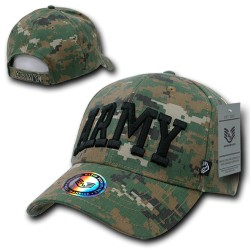943 - Woodland Digital Military/Law Caps