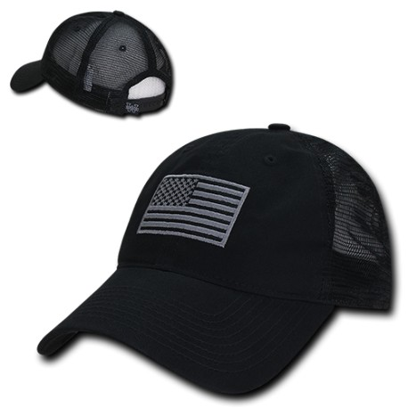US1017 - Relaxed US Flag Trucker Caps