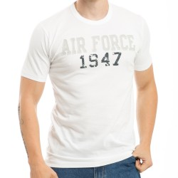 R52- Applique Military White T-Shirts